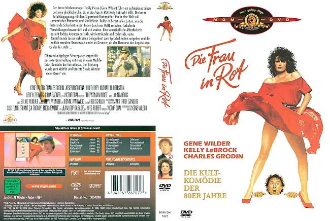 Die Frau in Rot dvd cover german