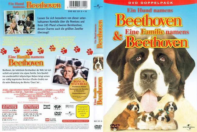 Ein Hund namens Beethoven eine Familie namens Beethoven german dvd cover