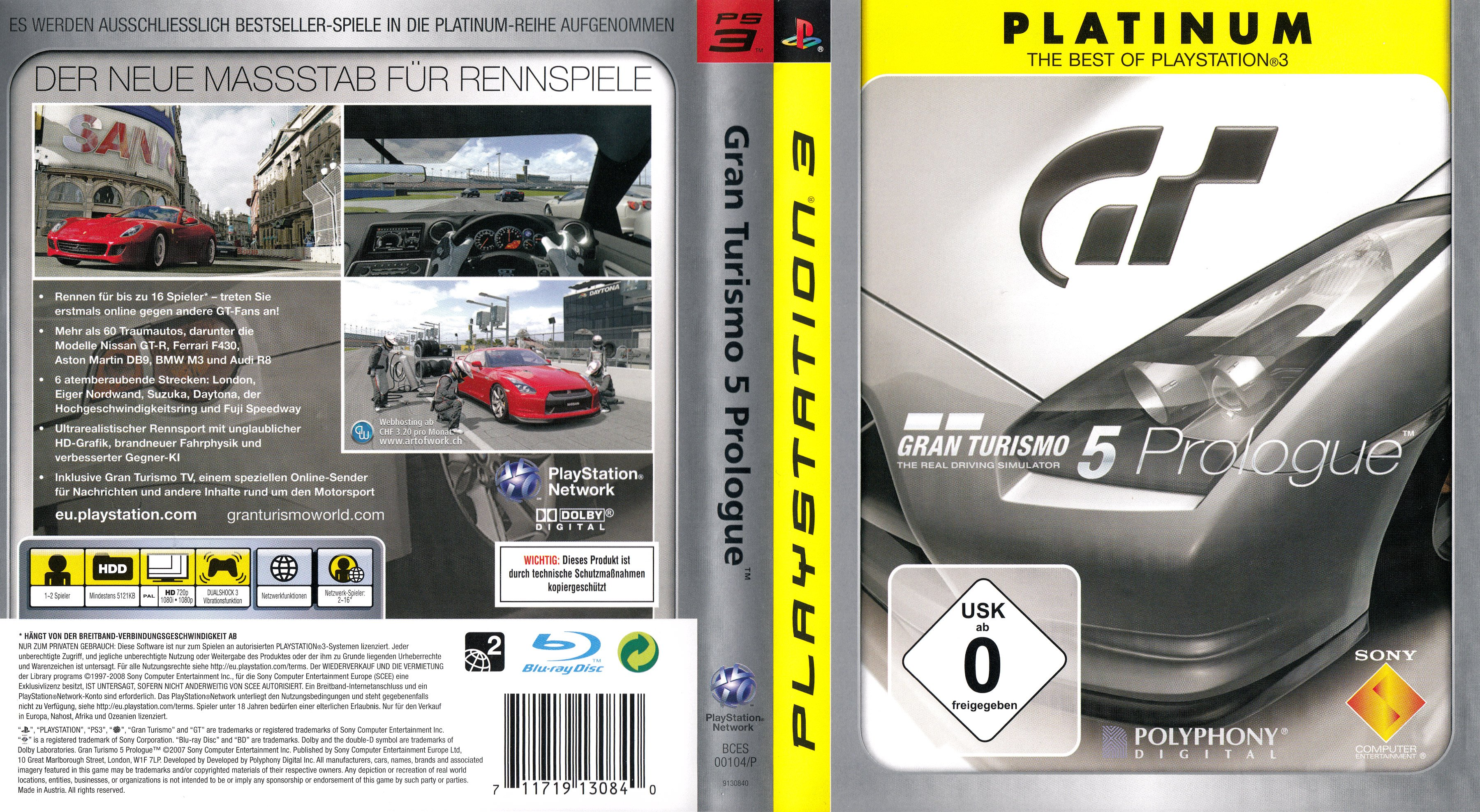 gran turismo 5 prologue version 2 german ps3 cover. Black Bedroom Furniture Sets. Home Design Ideas