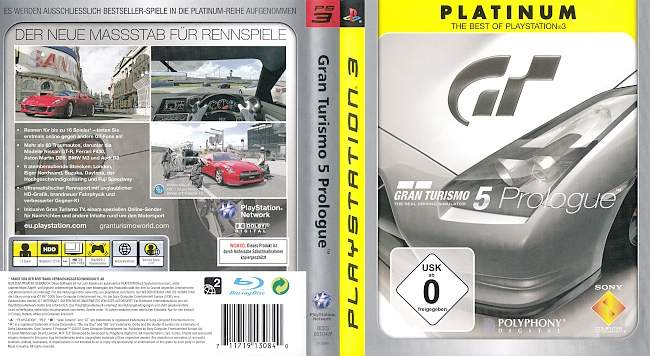 Gran Turismo 5 Prologue Version 2 german ps3 cover