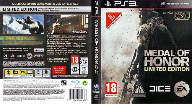 Medal of Honor Limited Edition german ps3 cover