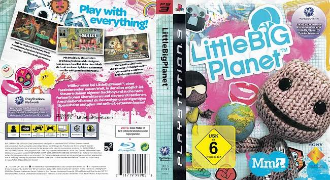 Little Big Planet german ps3 cover