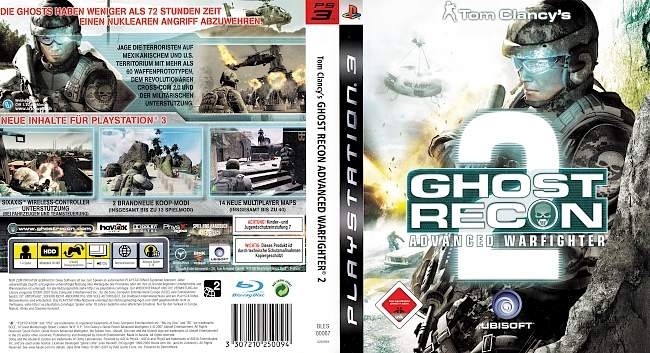 Tom Clancy Ghost Recon Advanced Warfighter 2 german ps3 cover