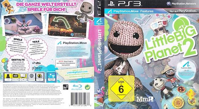 Little Big Planet 2 german ps3 cover