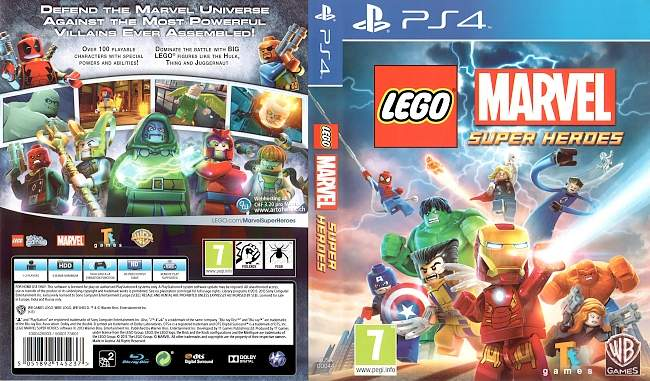 LEGO Marvel Super Heroes german ps4 cover