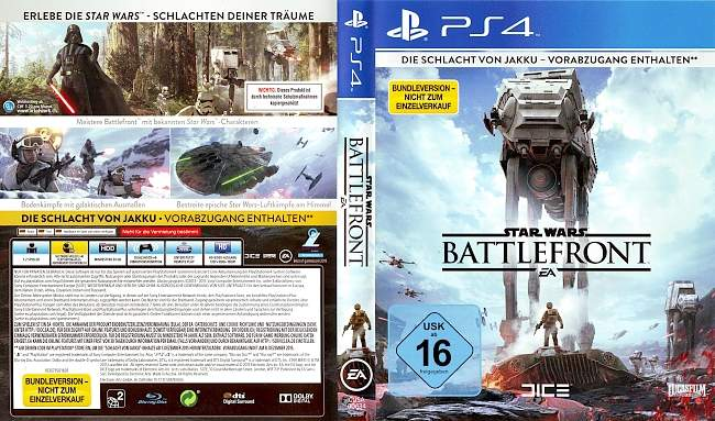 Star Wars Battlefront PS4 Covers german ps4 cover