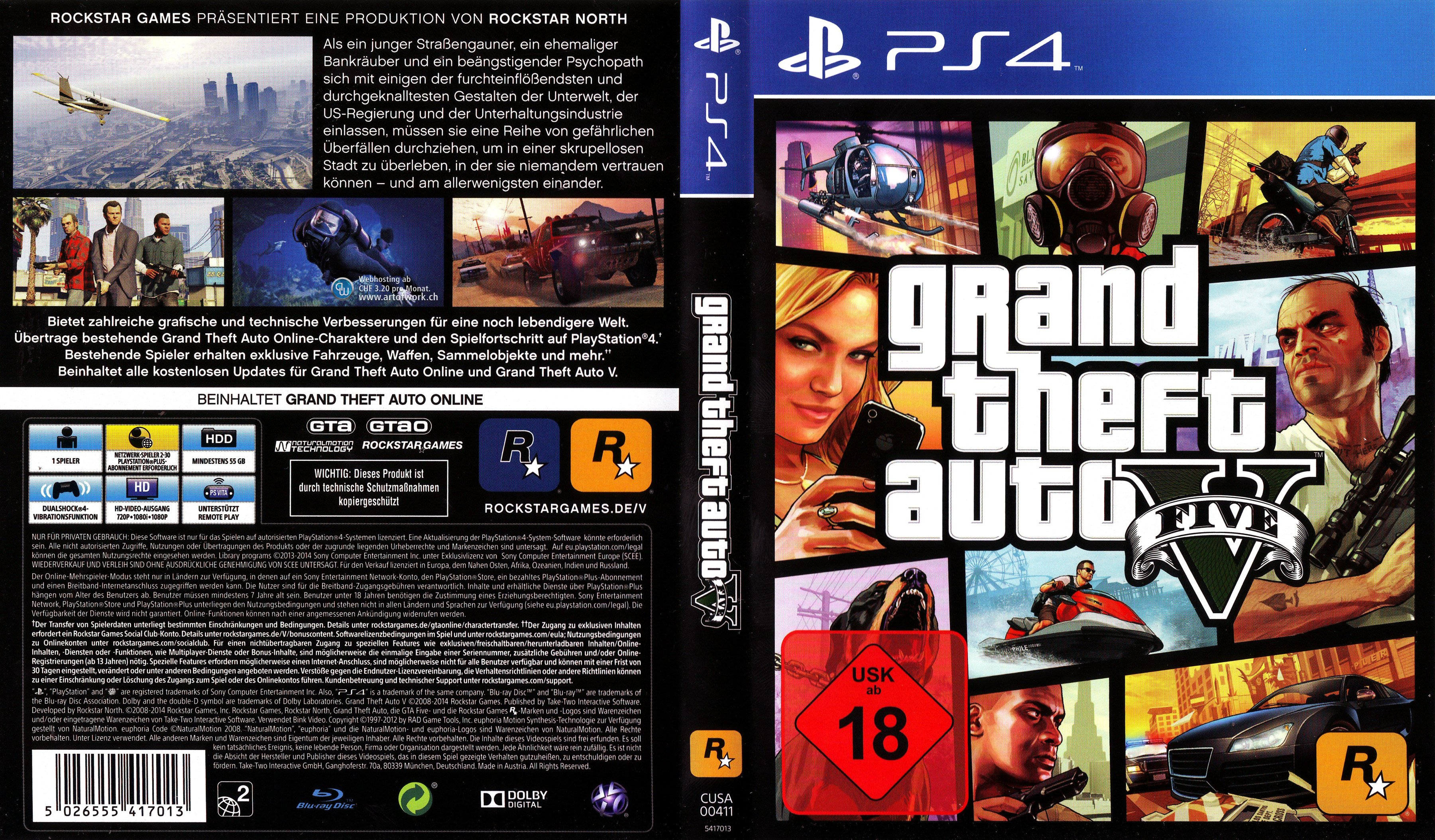 Grand Theft Auto V Rockstar Games PlayStation 4