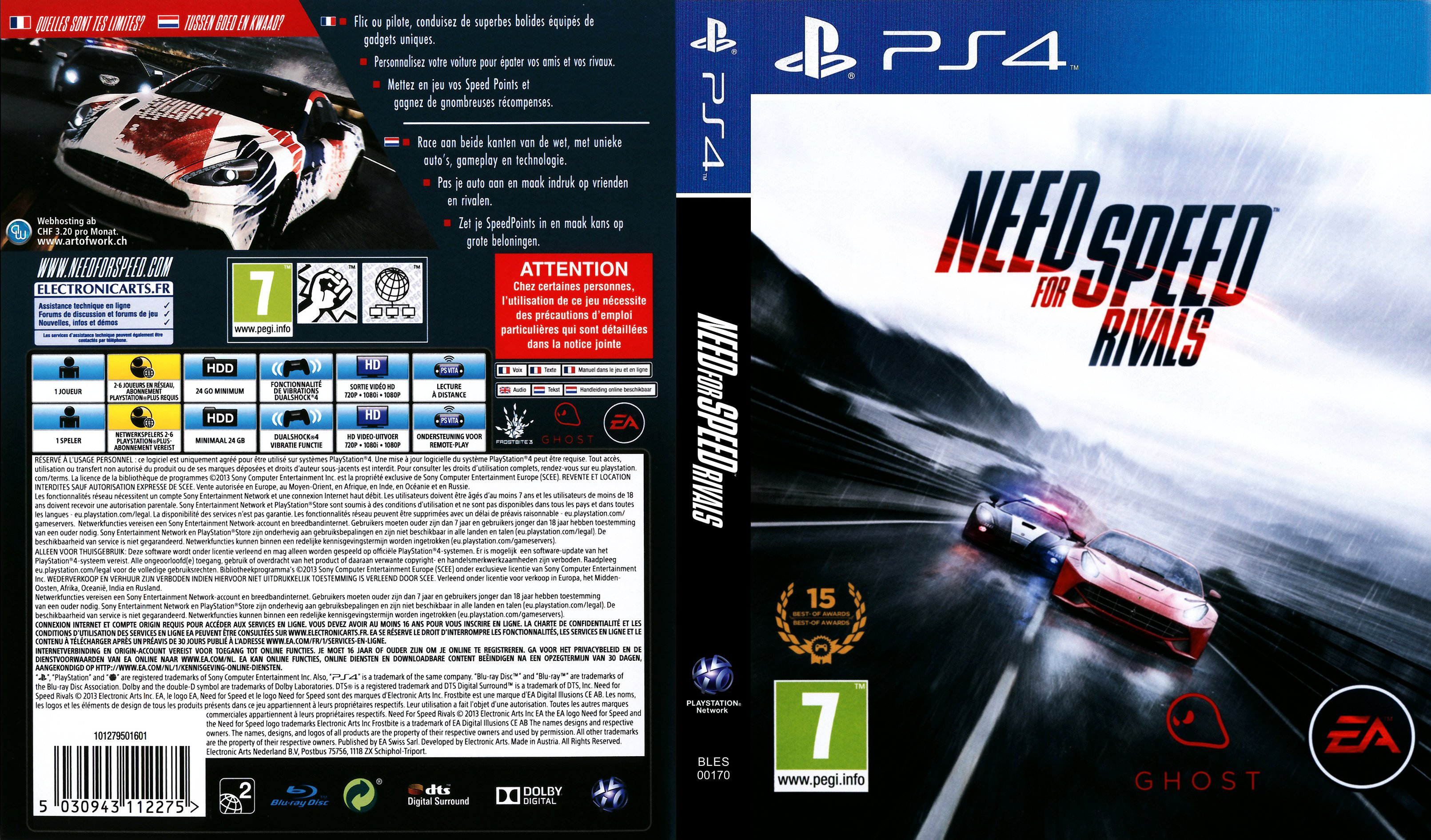 need for speed rivals german ps4 cover german dvd covers. Black Bedroom Furniture Sets. Home Design Ideas