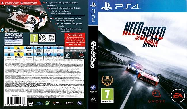 Need For Speed Rivals german ps4 cover