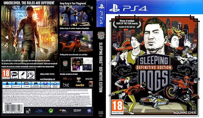 Sleeping Dogs Definitive Edition german ps4 cover