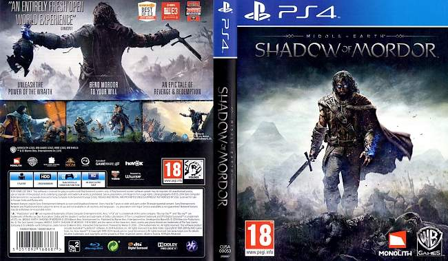 Middle Earth Shadow of Mord german ps4 cover