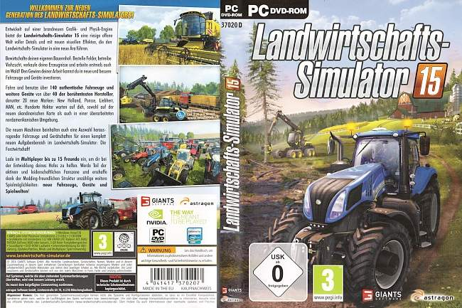 Landwirtschafts Simulator 2015 Cover PC pc cover german