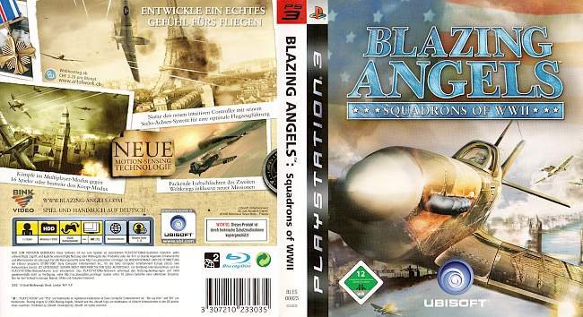 Blazing Angels Squadrons of WWII german ps3 cover