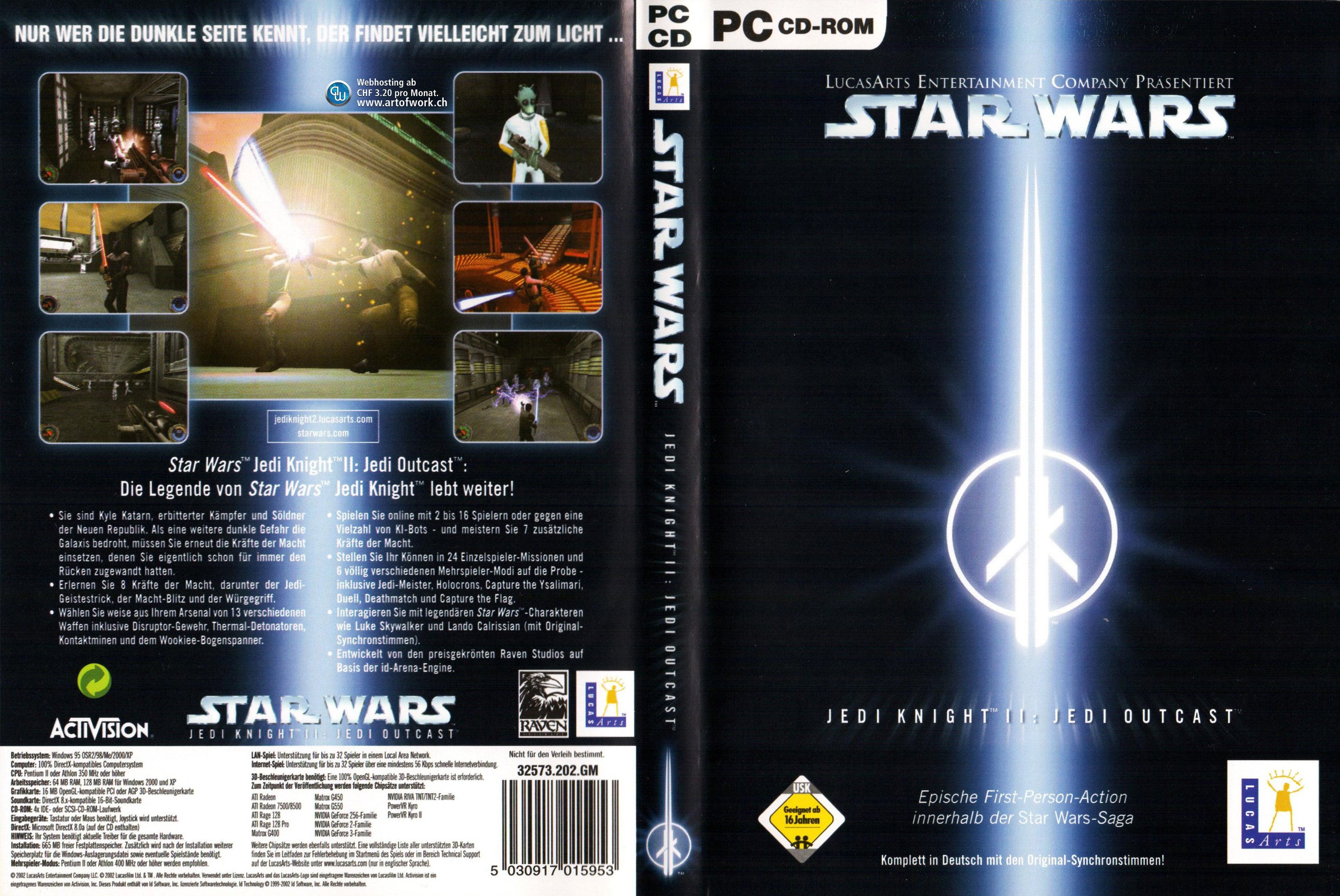 Cover Jedi Knight 2, Quelle: LucasArts