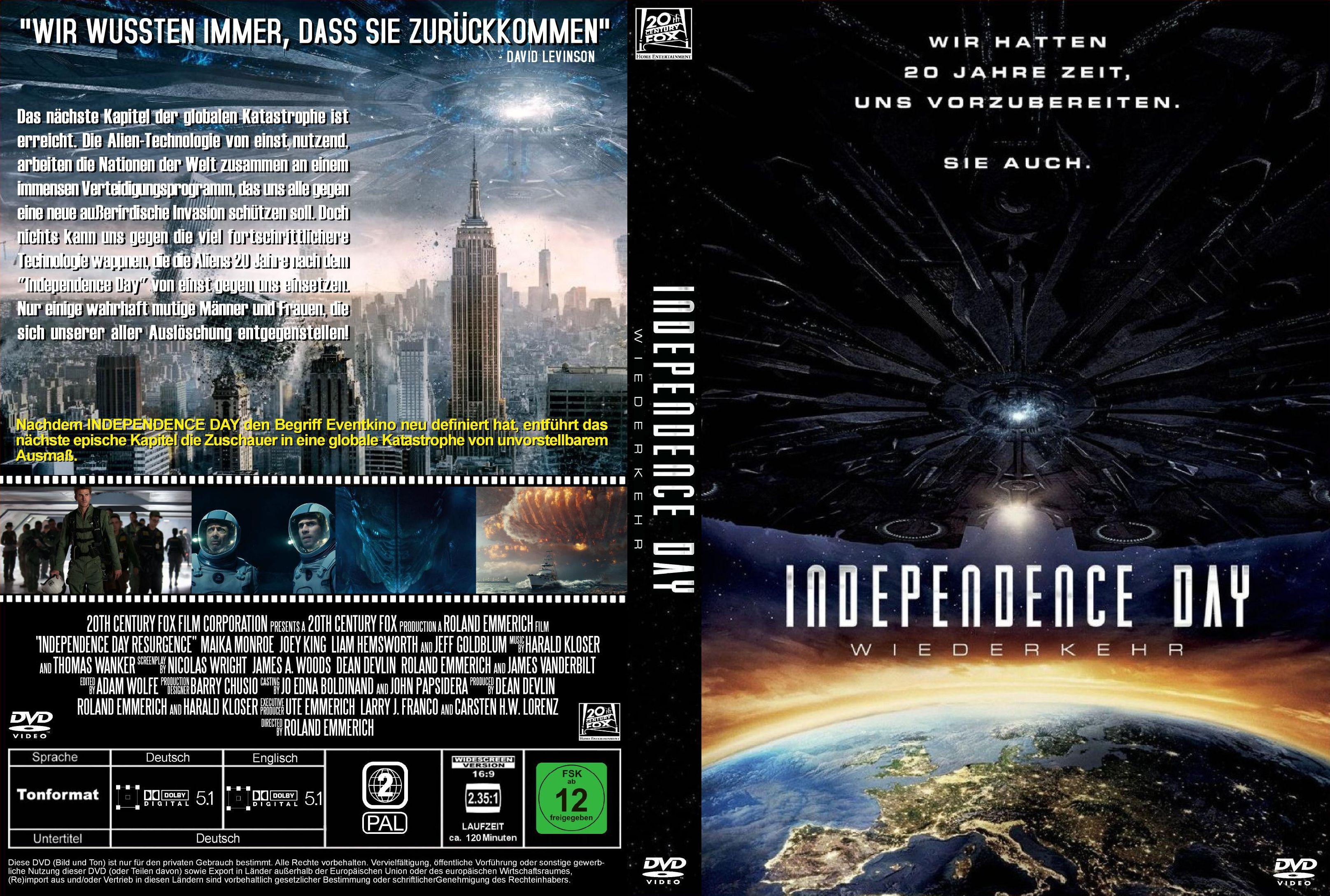 Independence Day 2 Wiederkehr German Dvd Covers