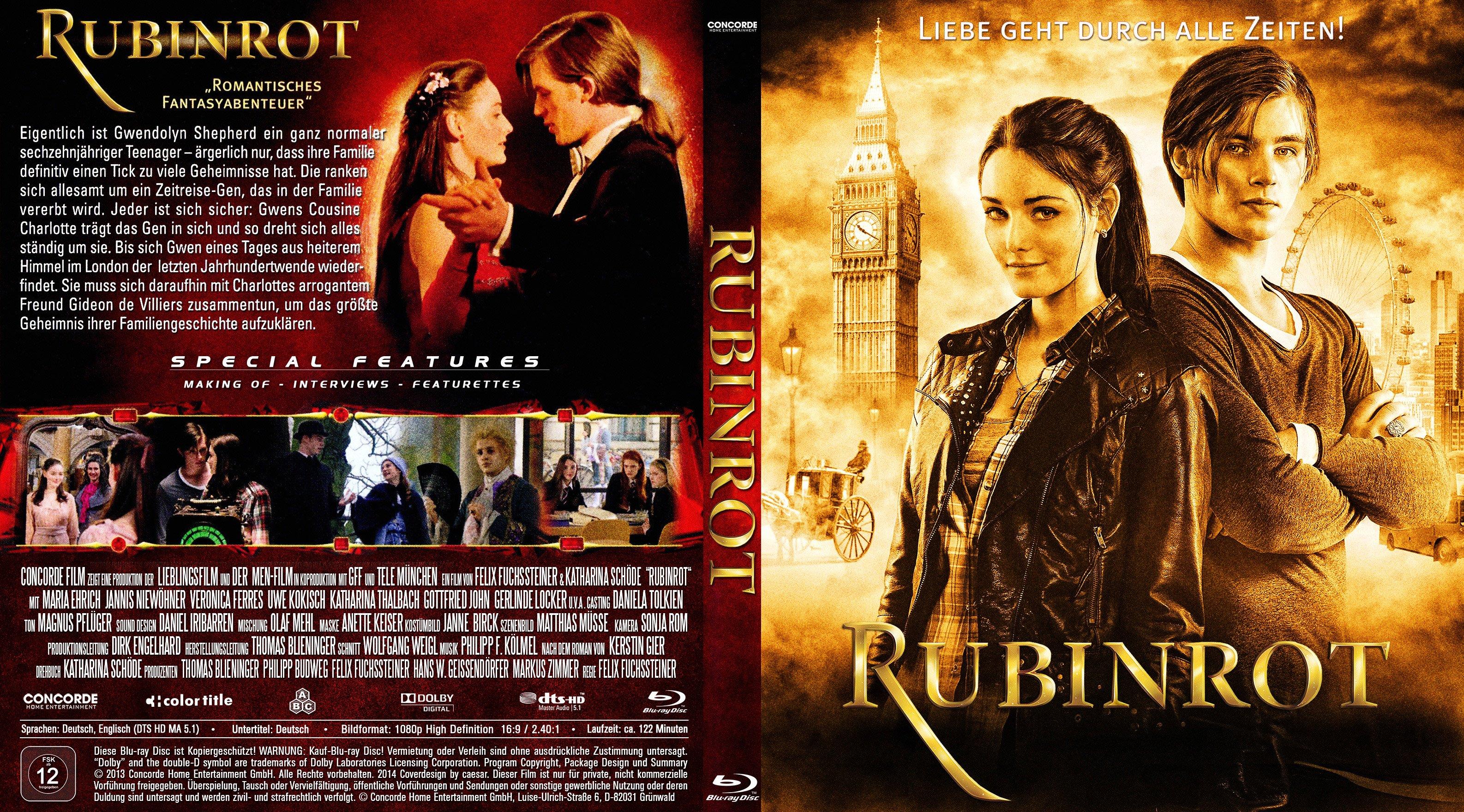 Rubinrot german blu ray cover | German DVD Covers