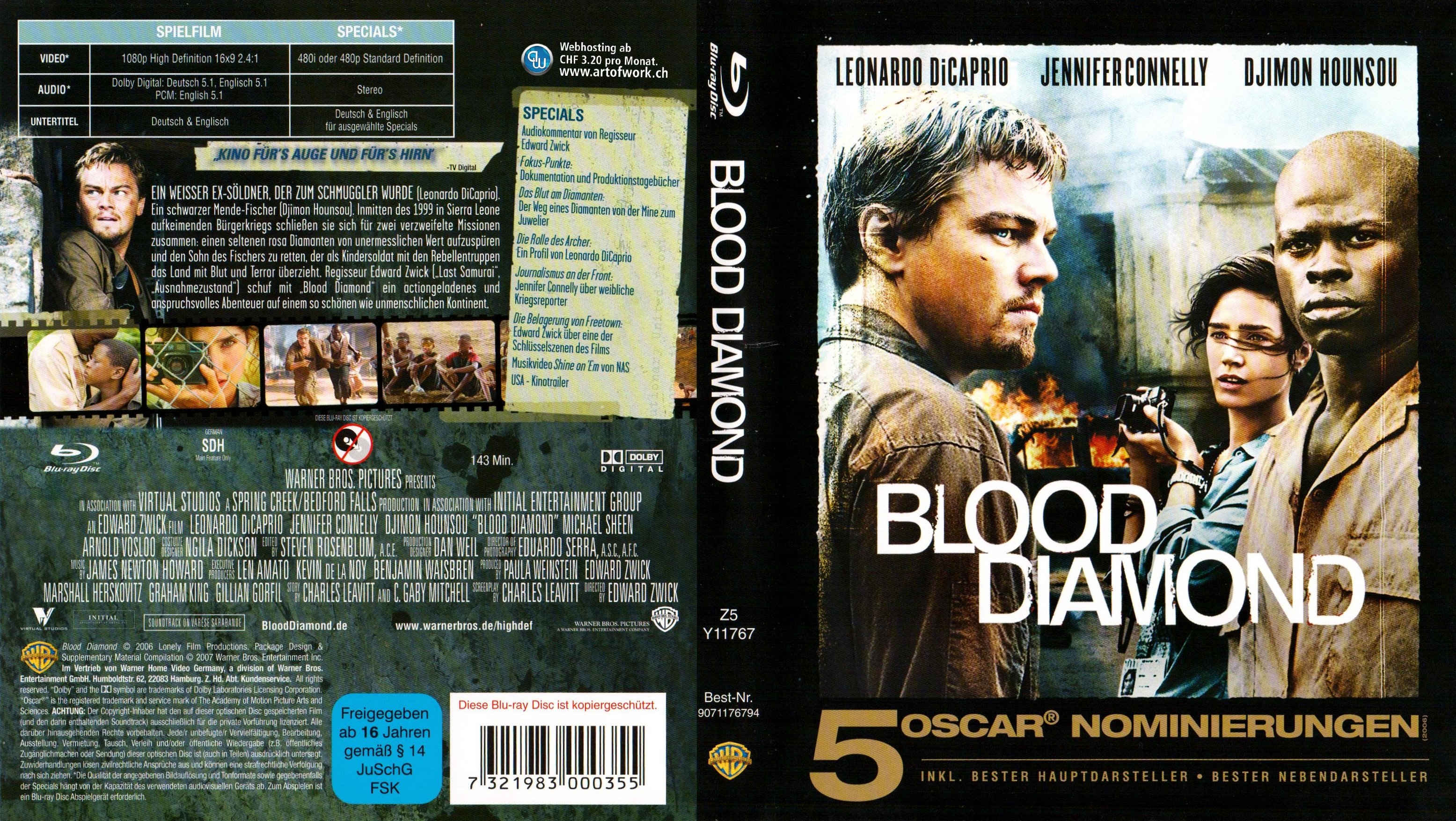 the of hounsou djimon picture photos diamond blood movie