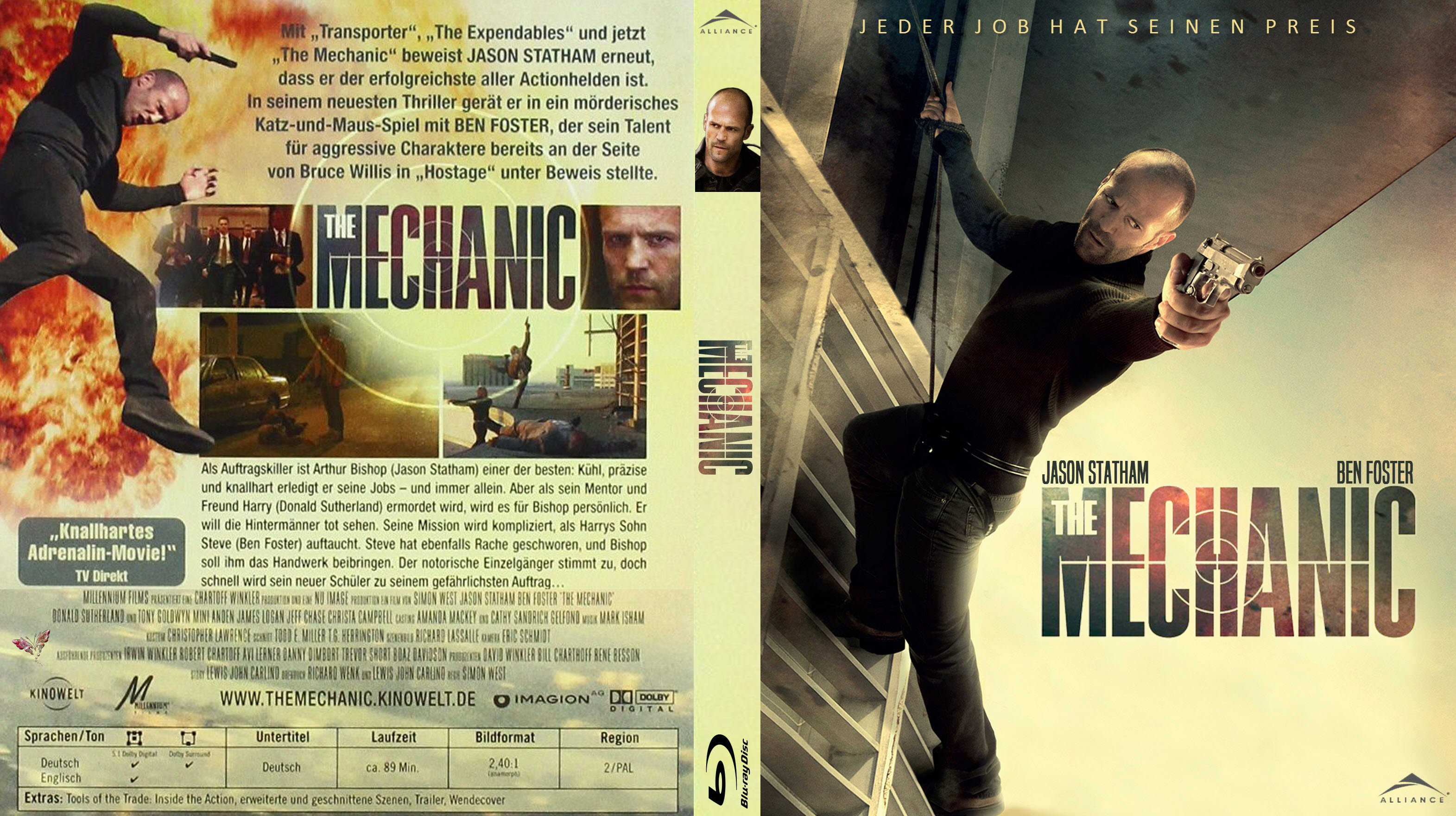 Dvd cover the mechanic