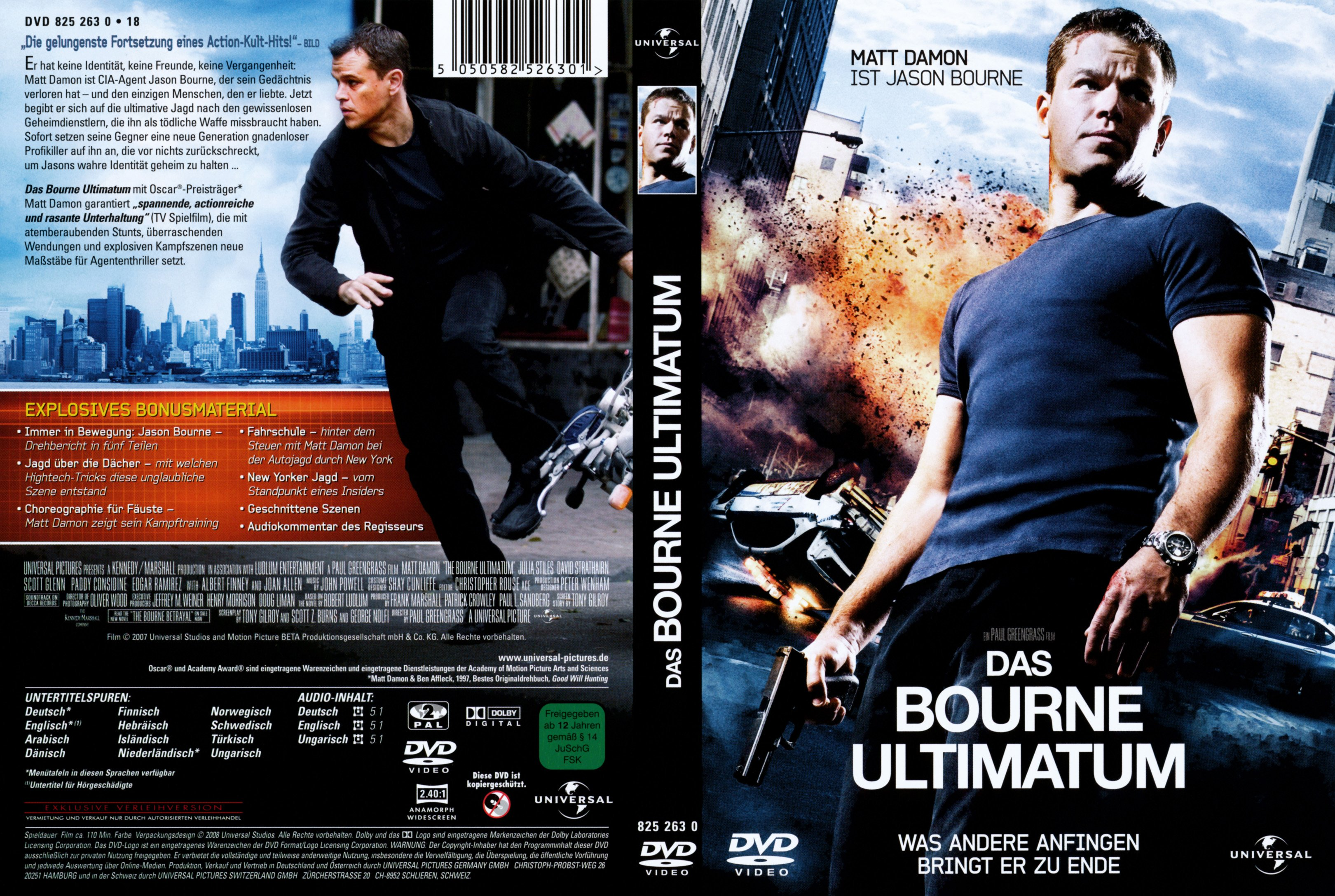 The bourne identity dvd cover