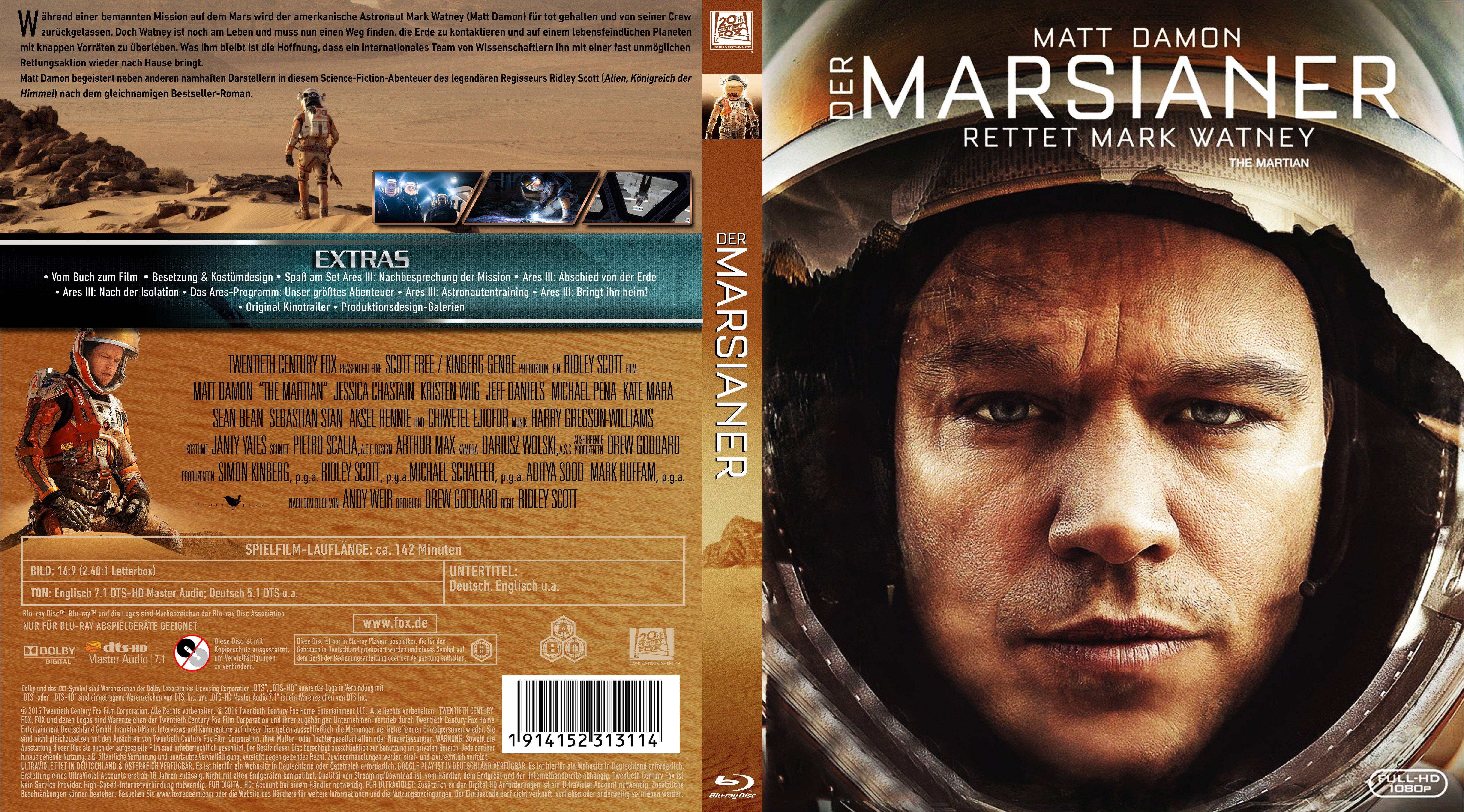 Der Marsianer Bluray