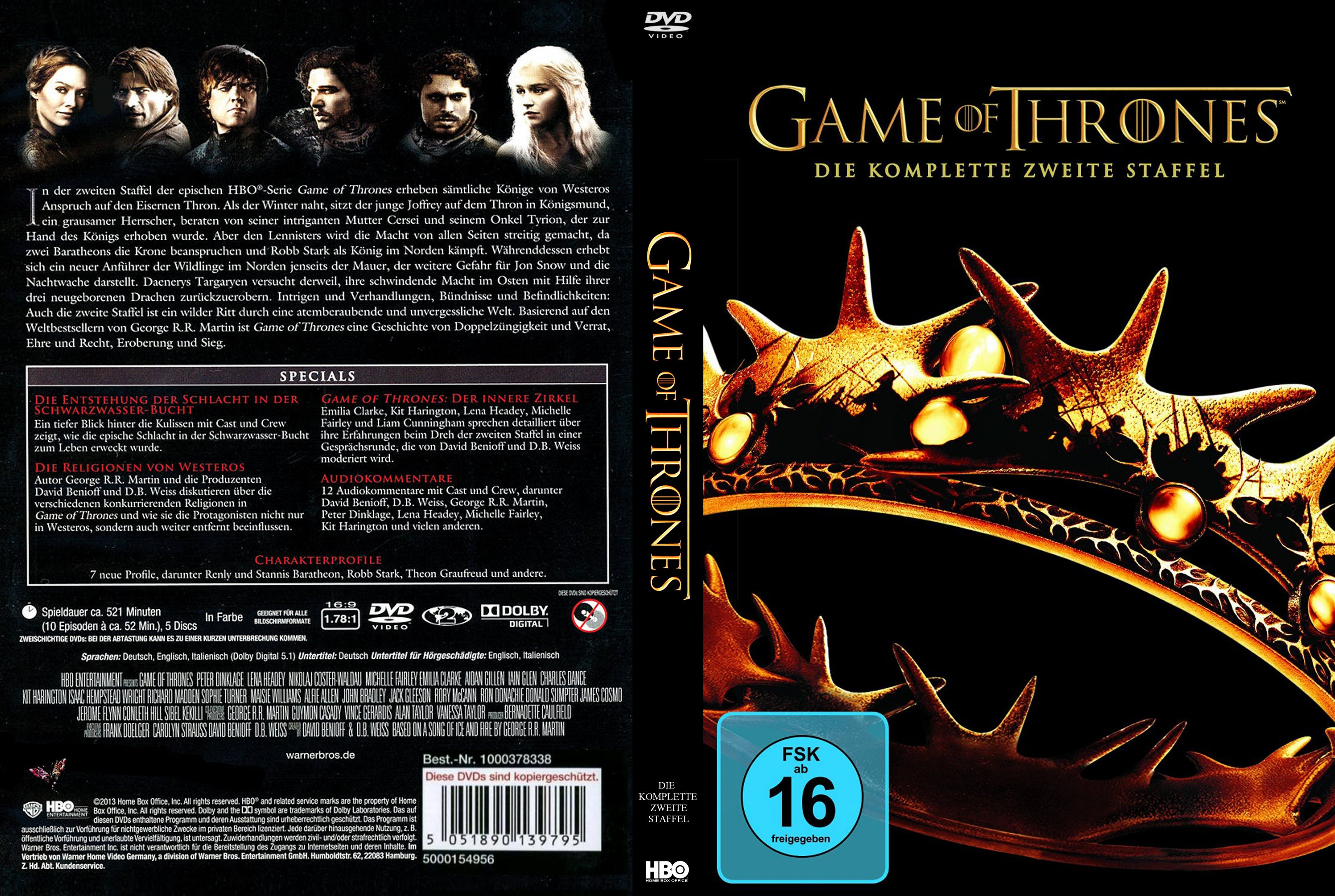 Game of Thrones Staffel 2 | German DVD Covers