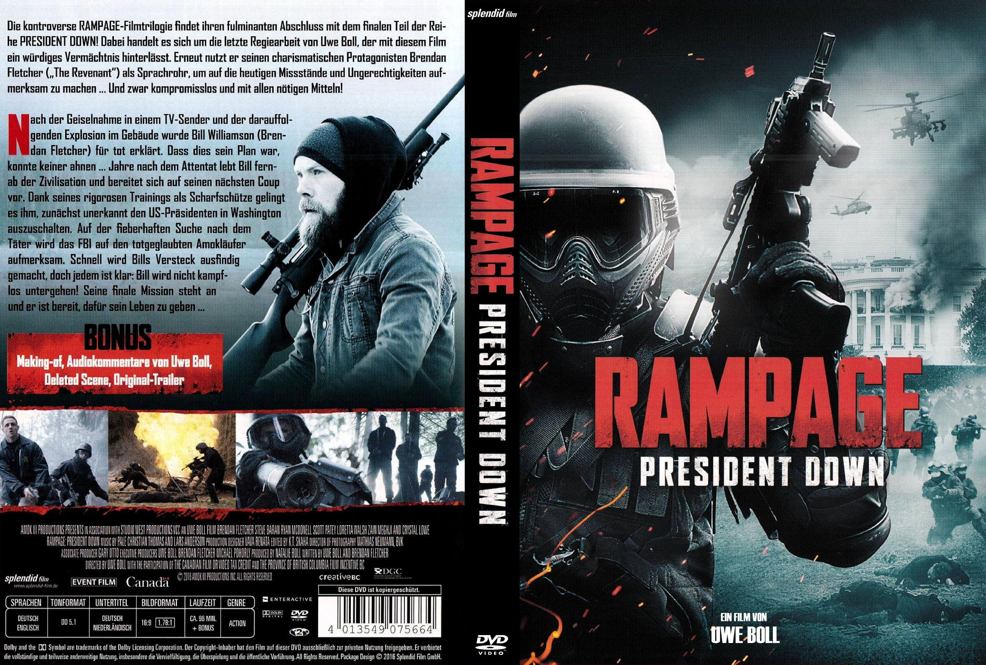 Rampage President Down German Dvd Covers