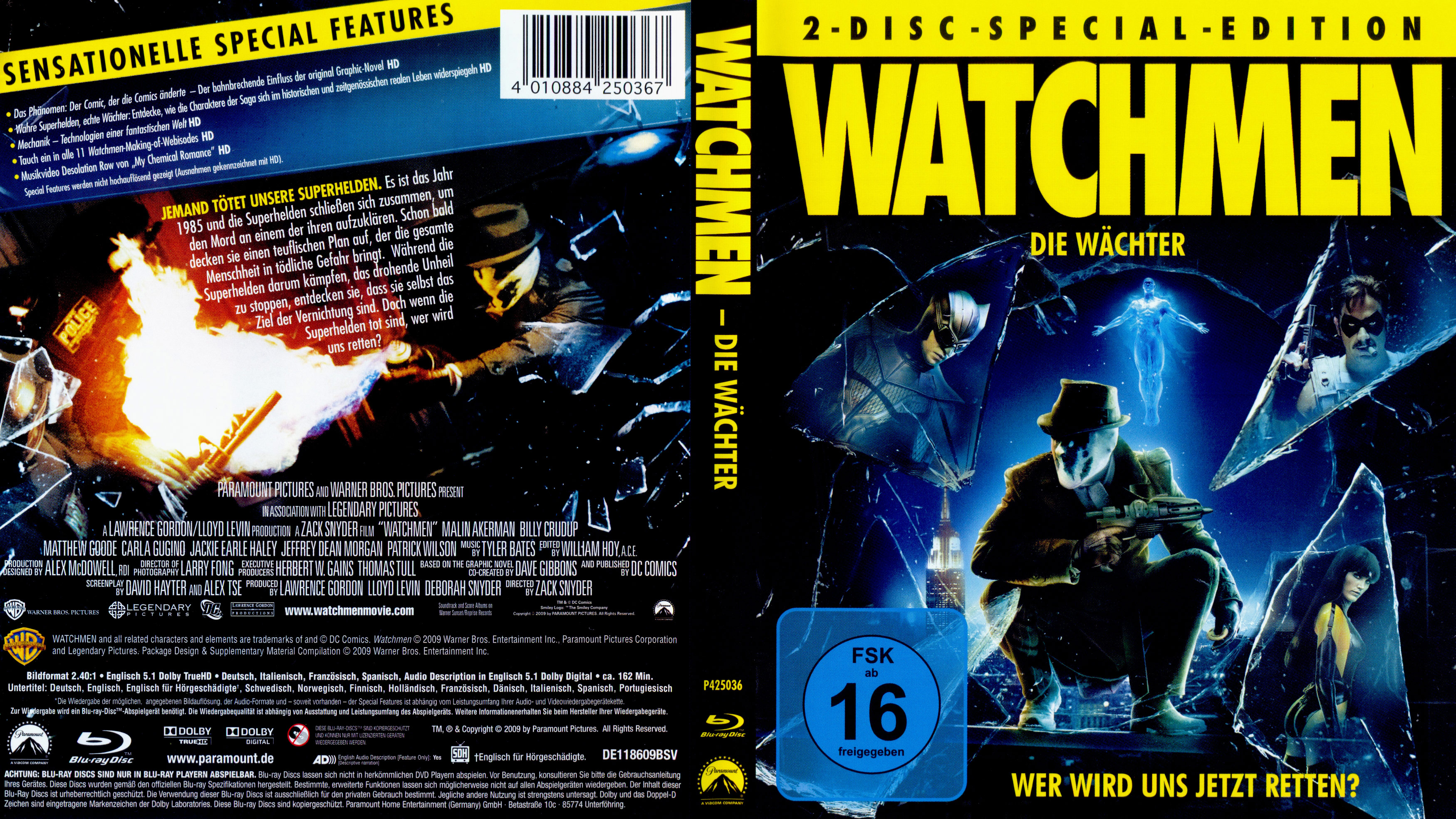Watchmen Die Wachter 2 german blu ray cover | German DVD ...
