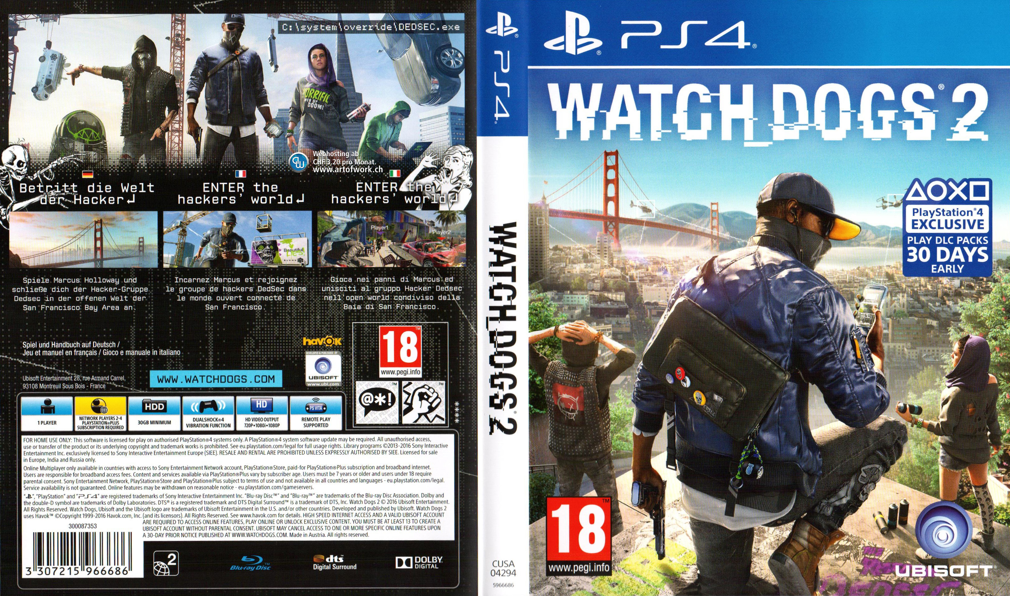 Watch Dogs  Pc Dvd