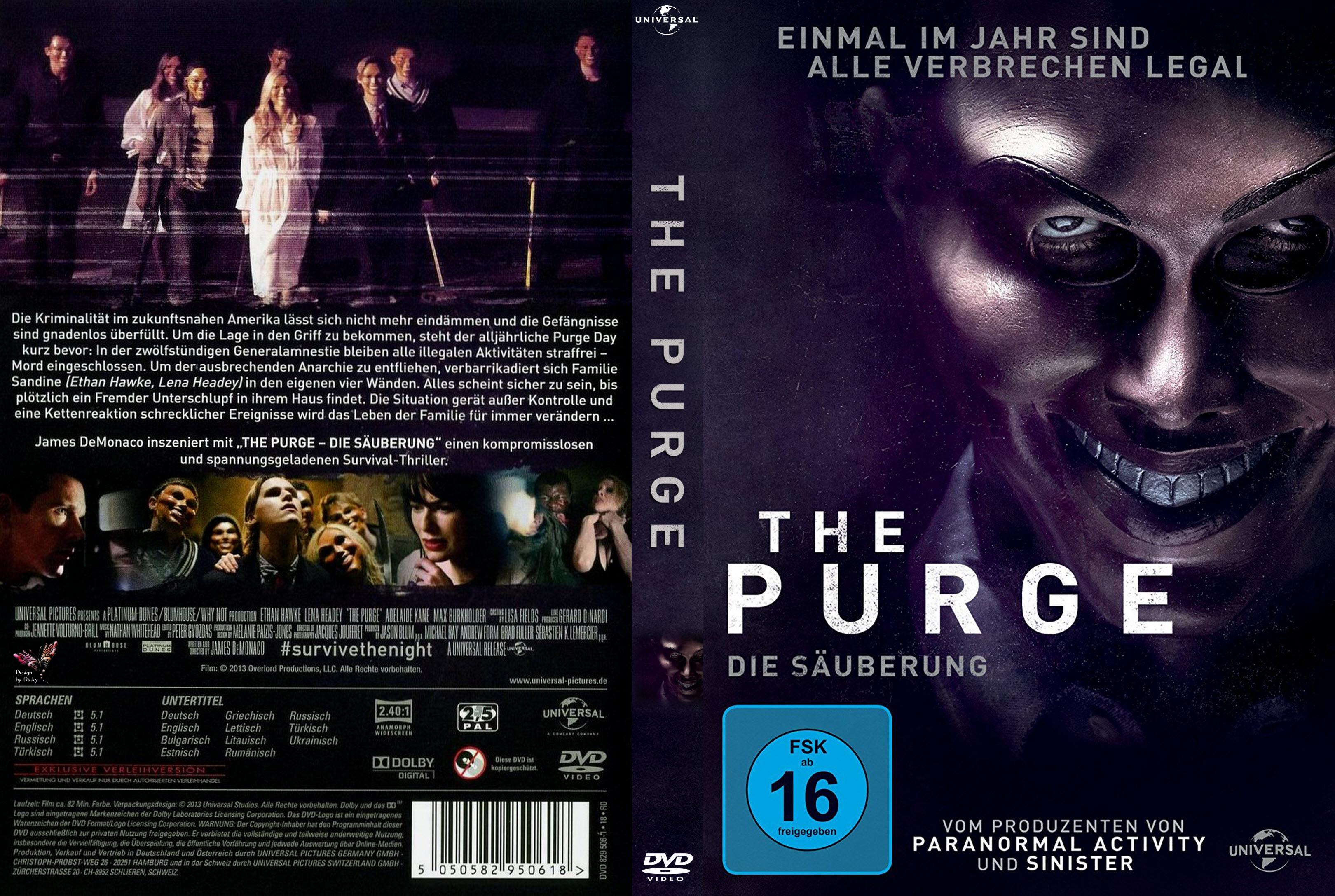 The Purge Die S 228 Uberung German Dvd Covers