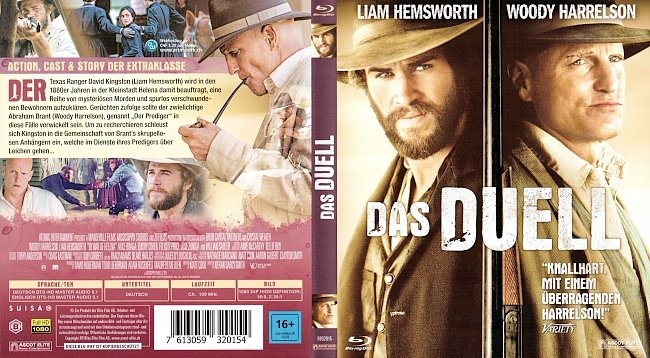 Das Duell Cover Woody Harrelson Liam Hemsworth german blu ray cover