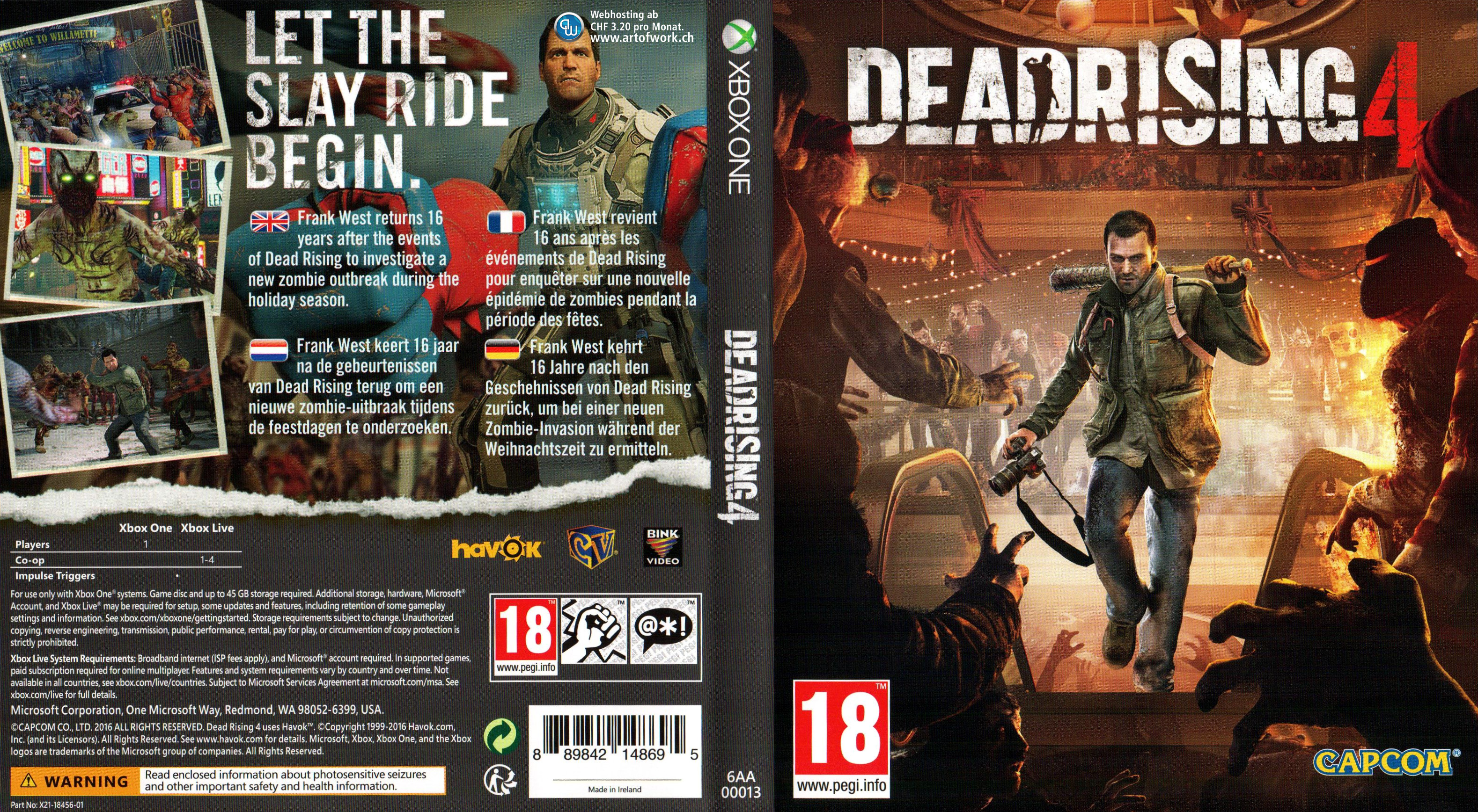 Book Cover Pictures Xbox One : Dead rising xbox one cover microsoft capcom german