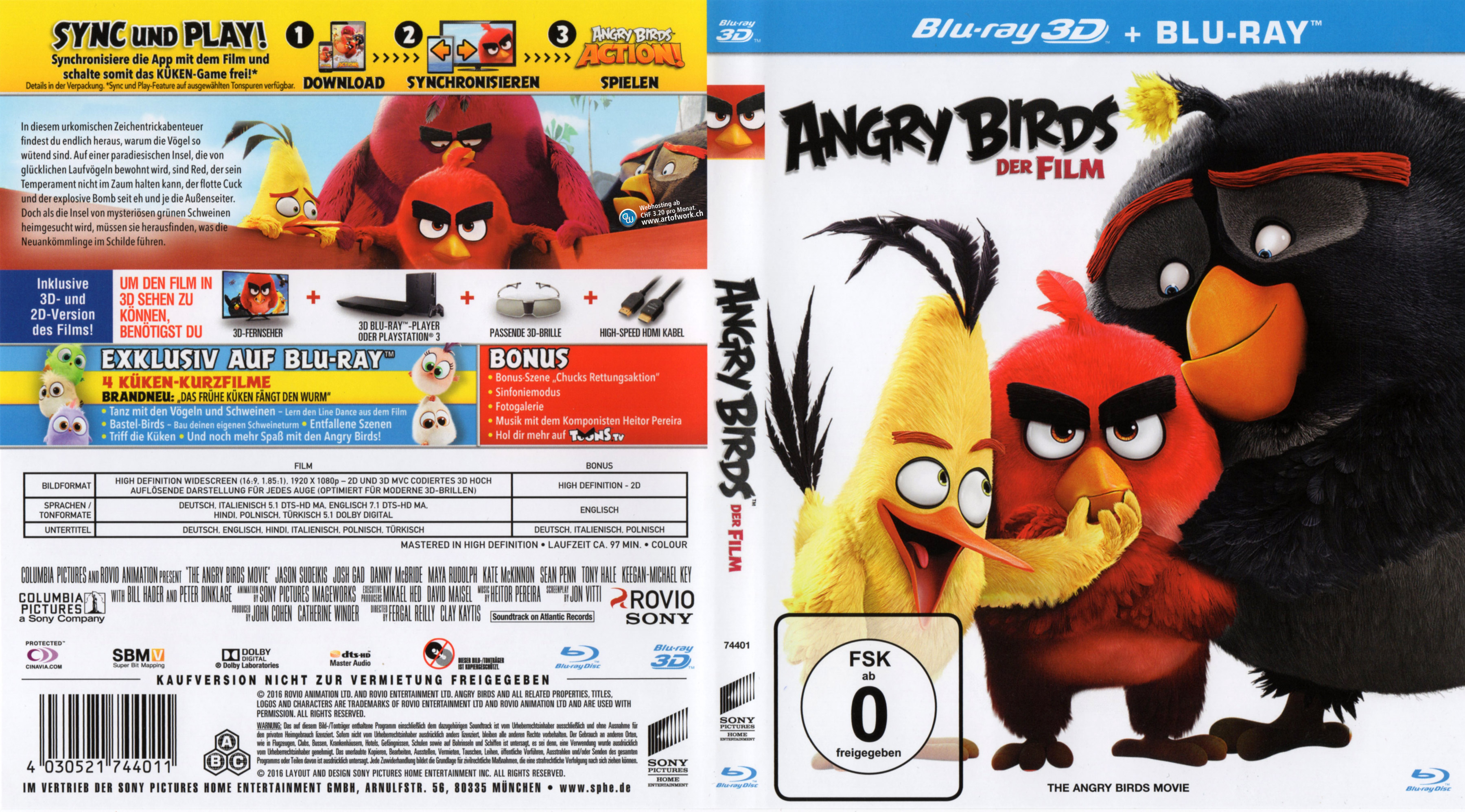 angry birds der film 3d german blu ray cover german dvd covers
