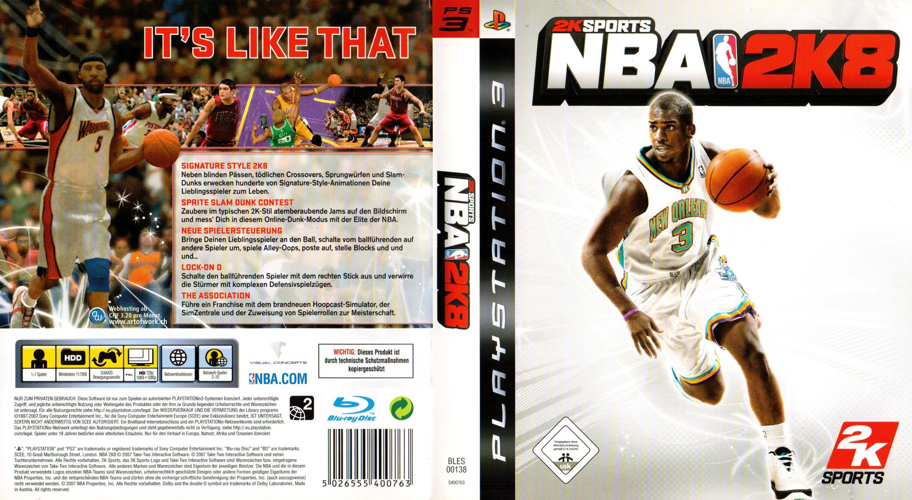 Sports Games For Ps3 : Nba k sports games german ps cover dvd covers