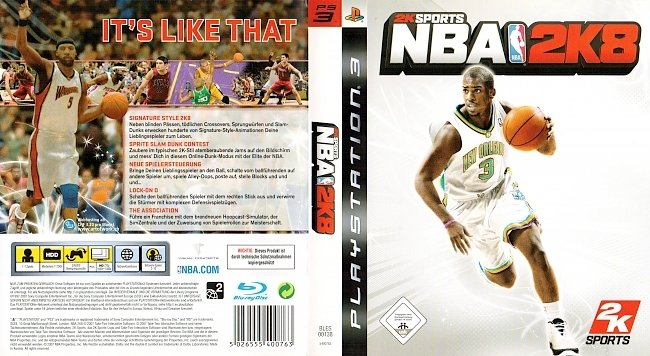 NBA 2K8 2K Sports Games german ps3 cover