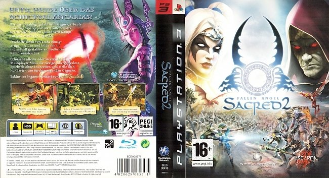 Sacred 2 Fallen Angel Cover Playstation 3 PS3 Covers german ps3 cover
