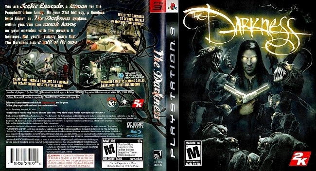 The Darkness PS3 german ps3 cover