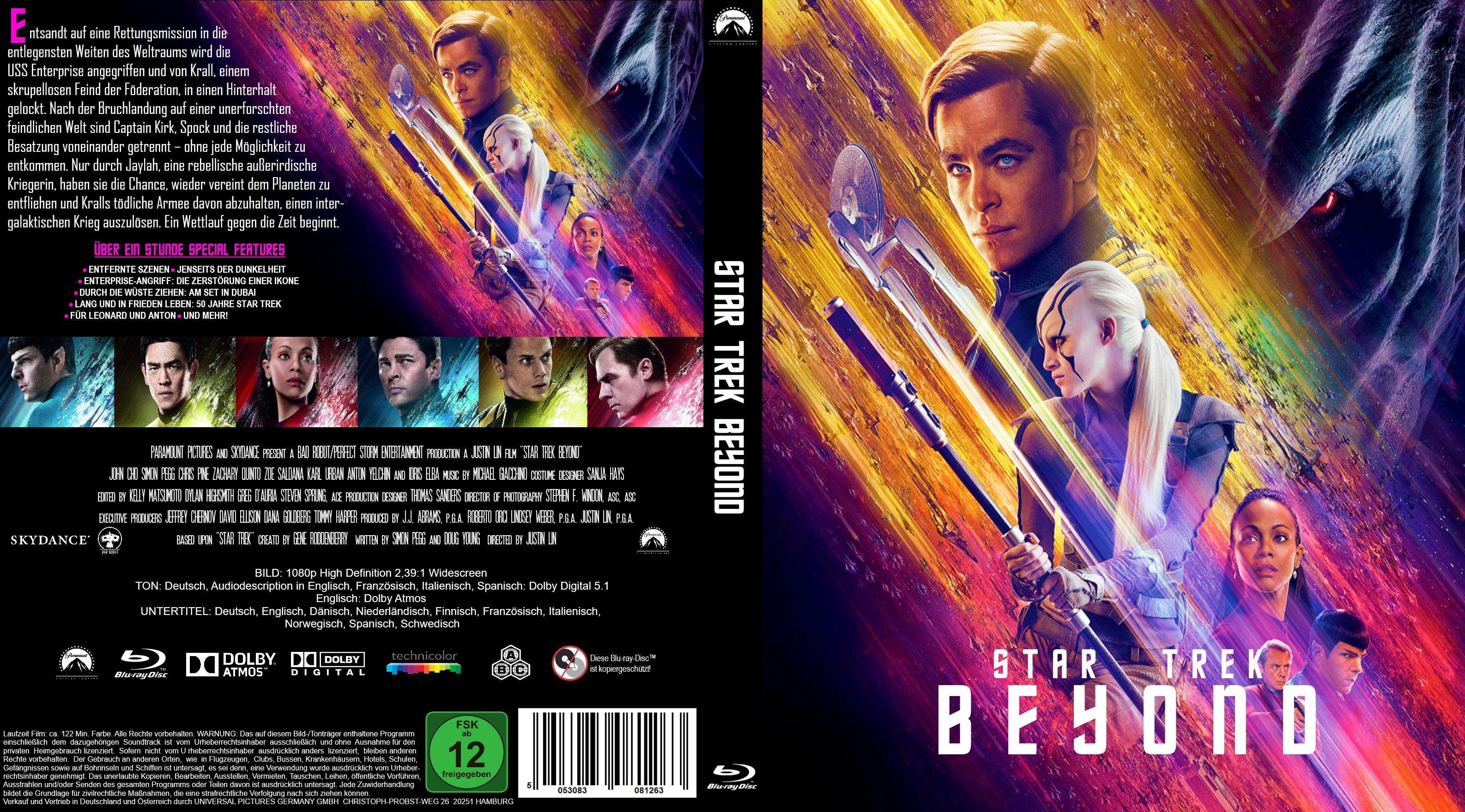Star Trek Beyond   German DVD Covers