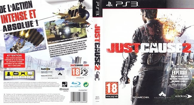 Just Cause 2 german ps3 cover