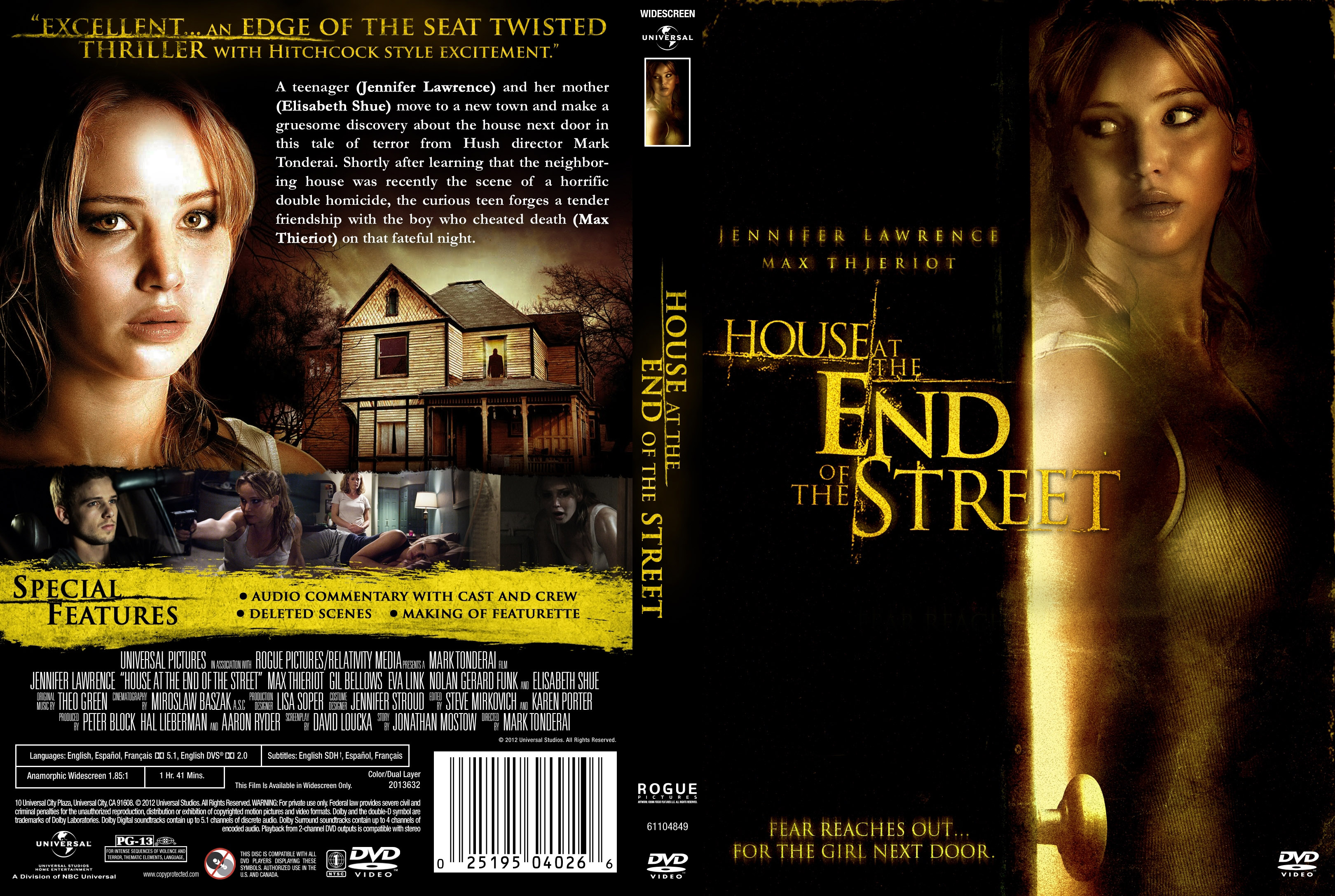 House at the End of the Street | German DVD Covers