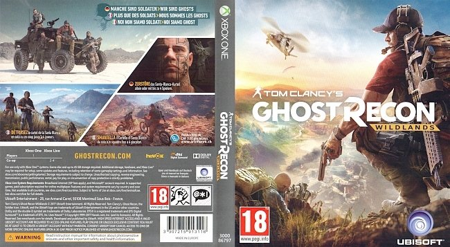 Tom Clancys Ghost Recon Wildlands Xbox One Games Cover german deutsch german xbox one cover
