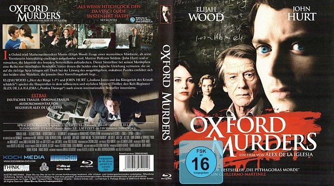 Oxford Murders Covers deutsch Blu rays german german blu ray cover