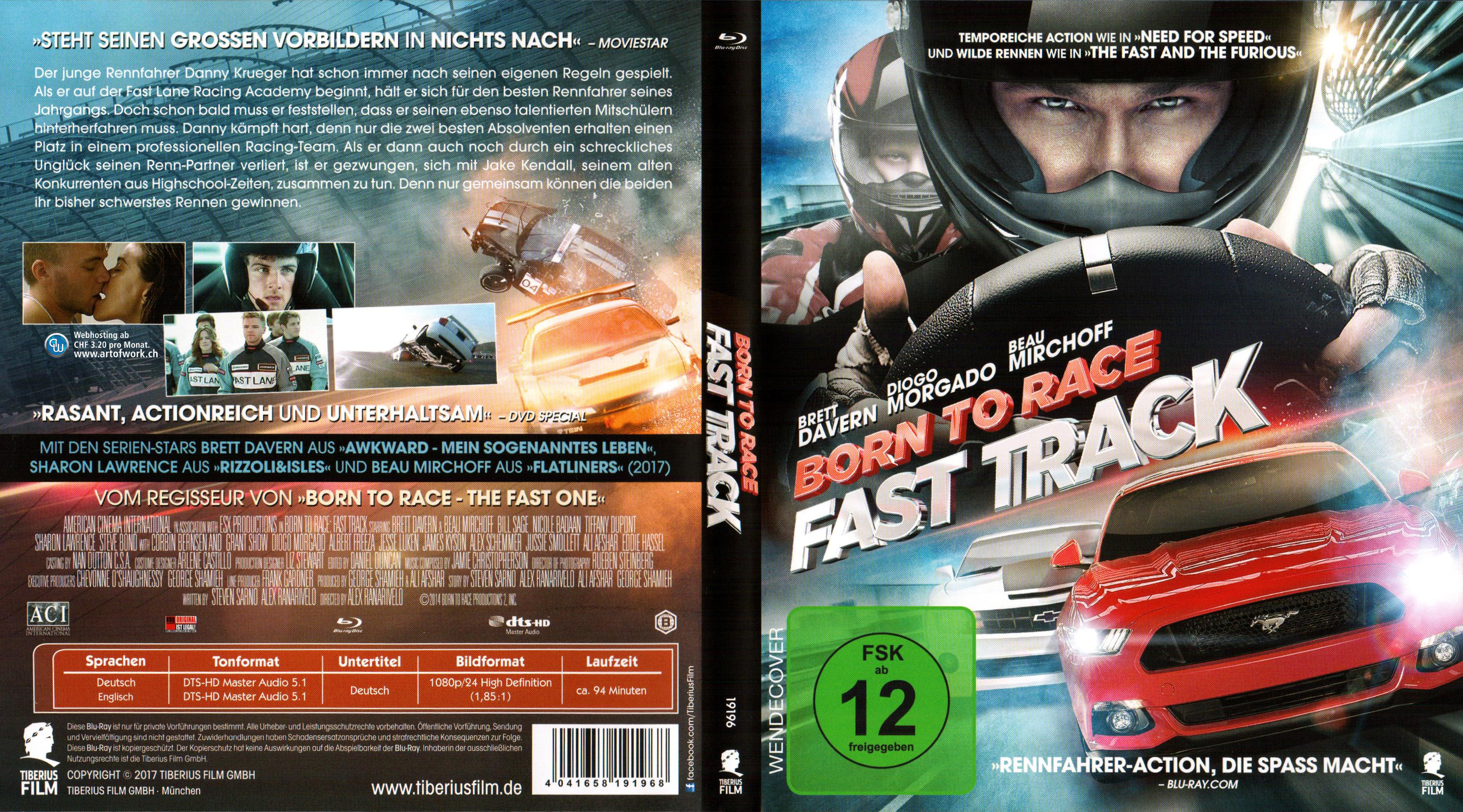 Born to Race Fast Track Cover Blu ray german blu ray cover