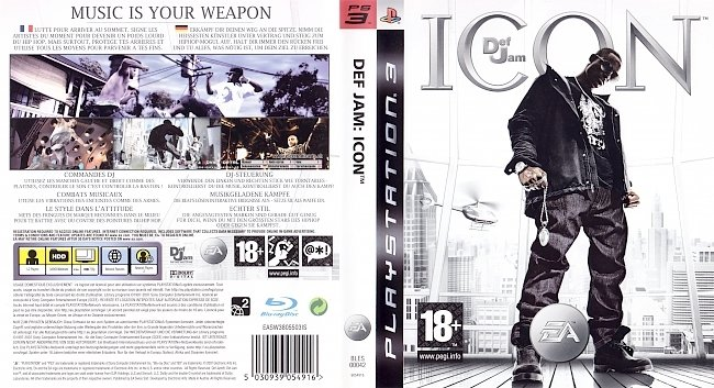 Def Jam Icon german ps3 cover