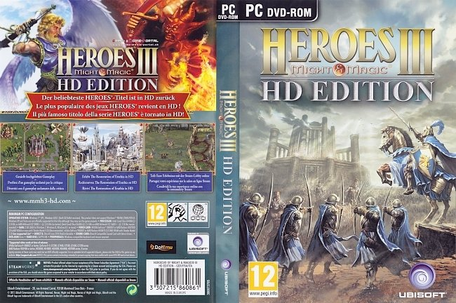 Heroes of Might And Magic 3 HD Edition pc cover german