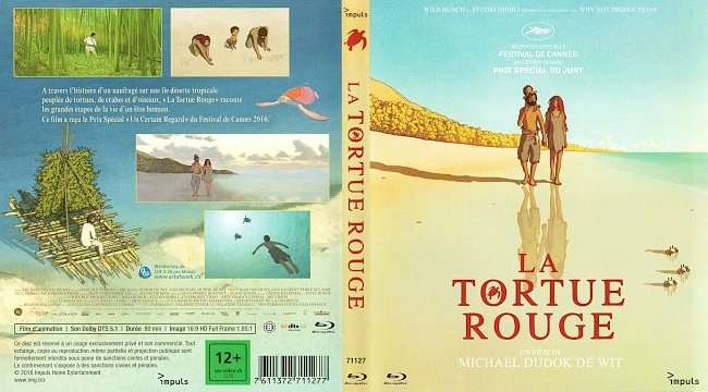 La Tortue Rouge The Red Turtle Cover Bluray Impuls german blu ray cover