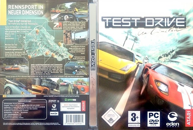 Test Drive Unlimited pc cover german Games German Steelbook pc cover german