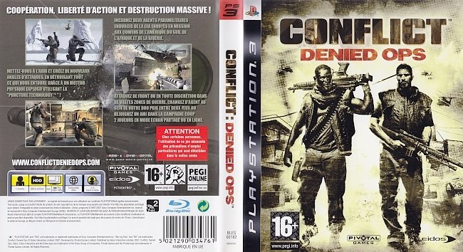 Conflict Denied Ops german ps3 cover
