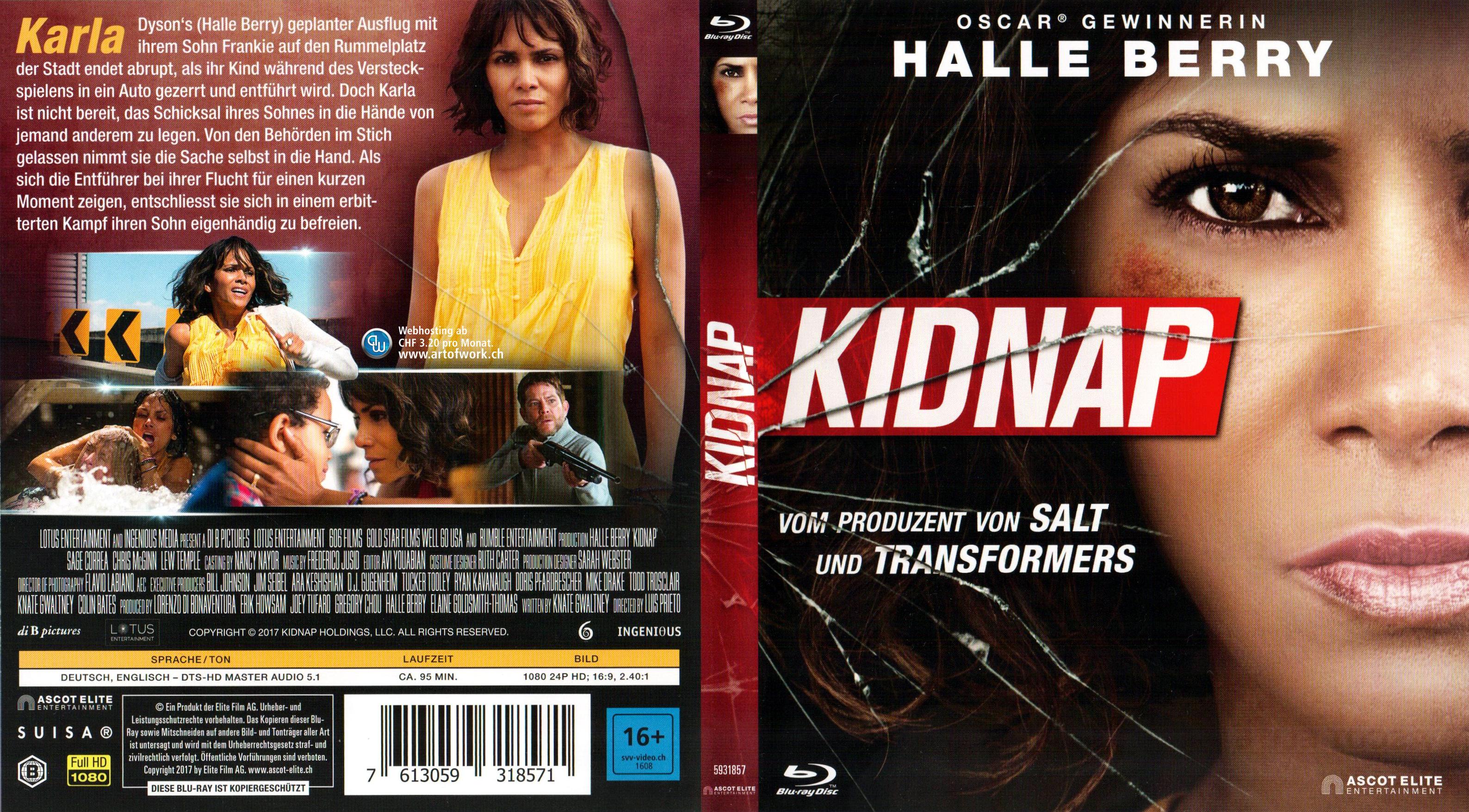Kidnap Cover Deutsch German Blu Ray Halle Berry German Blu
