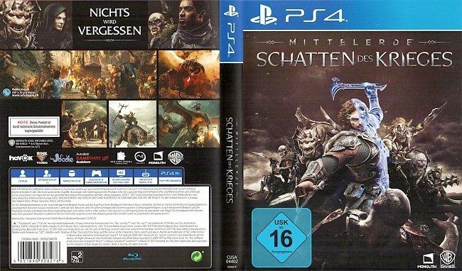 Mittelerde Schatten des Krieges Cover Playstation4 PS4 ...