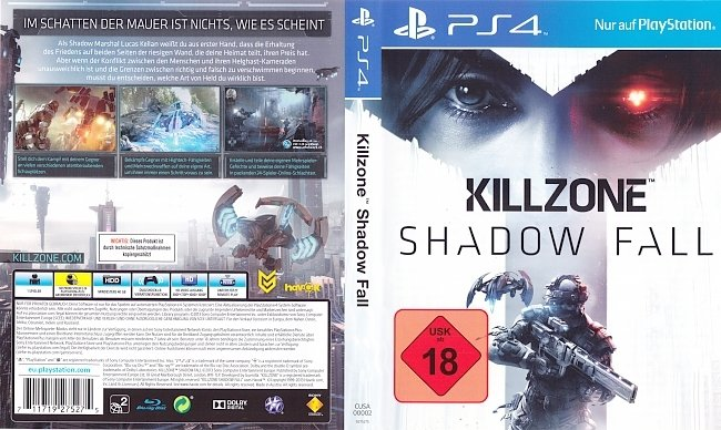 Killzone 4 Shadow Fall Deutsch Cover PS4 german ps4 cover